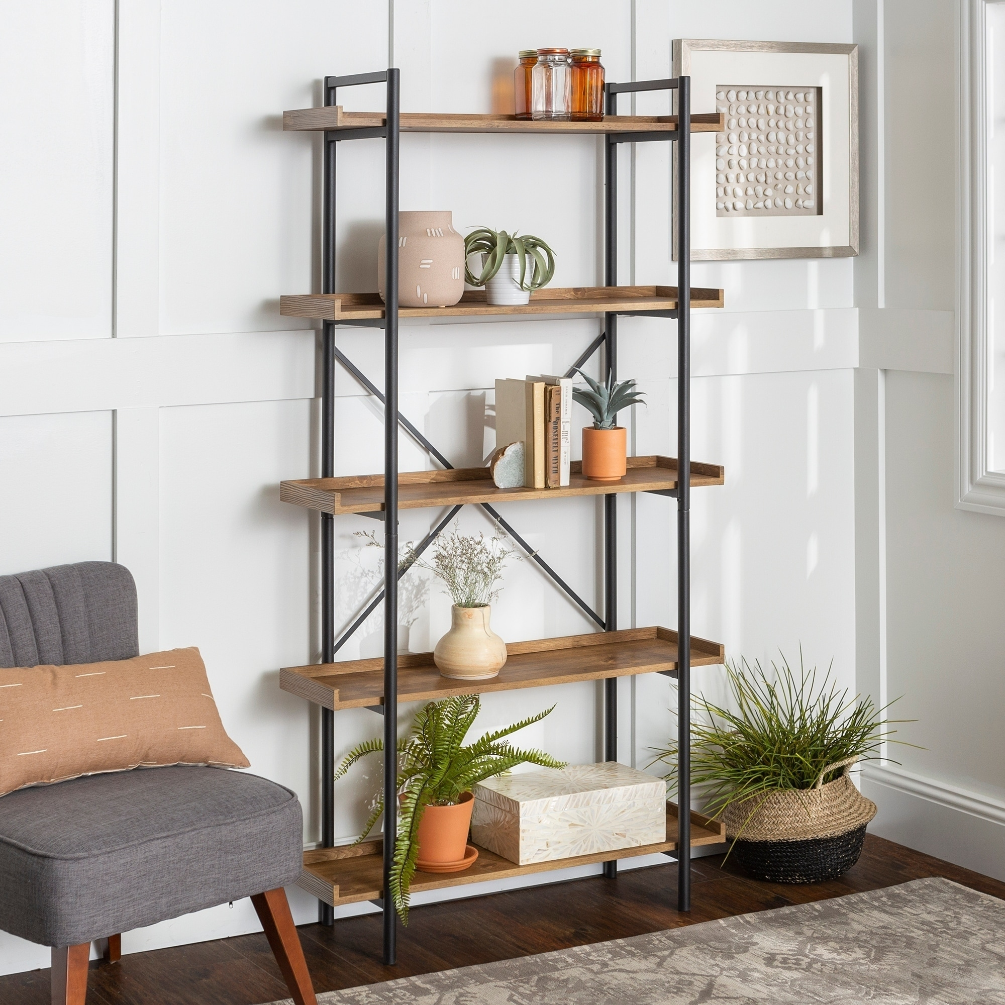 Buy Industrial Bookshelves Bookcases Online At Overstock