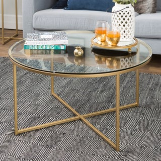 Clay Alder Home Toston 36-inch Coffee Table with X-Base