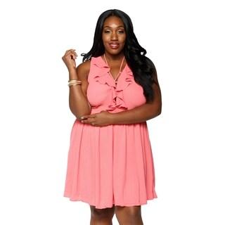 Xehar Womens Plus Size Sexy Sleeveless Short Mini Midi Summer Dress