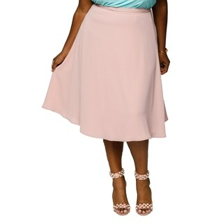 Xehar Womens Plus Size Casual Flared Midi Skirt (More options available)