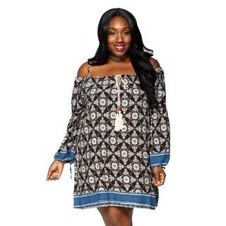 Xehar Womens Plus Size Casual Loose Boho Midi Short Dress