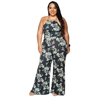 Xehar Womens Plus Size Sexy Sleeveless Floral Romper Jumpsuit Playsuit