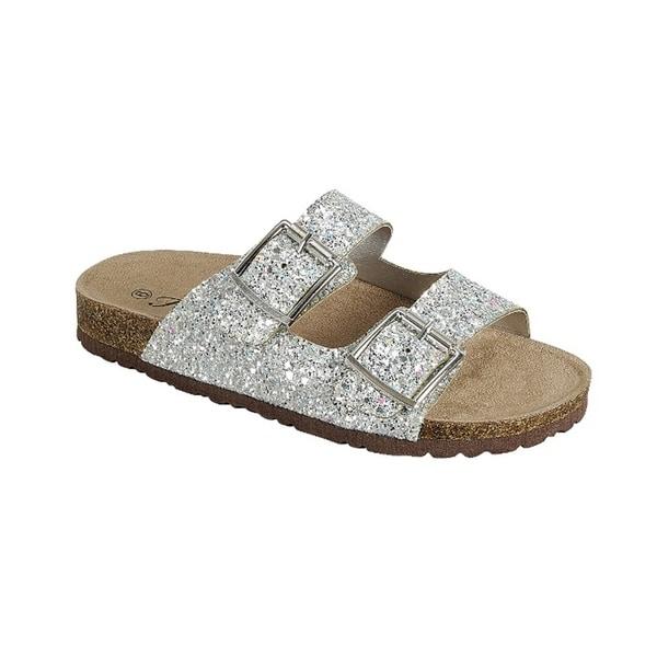 sparkle cork sandals