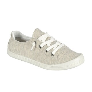 Forever FQ76 Women's Lace Up White Sole Casual Street Sneakers