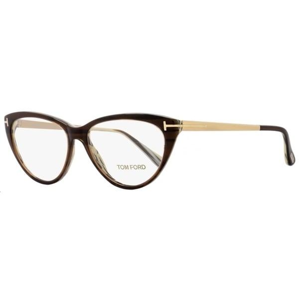 e85d31889a Shop Tom Ford TF5354 050 Womens Brown Horn Gold 53 mm Eyeglasses ...