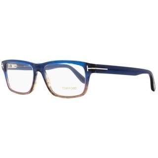 Tom Ford TF5320 092 Mens Brown Shaded Blue 56 mm Eyeglasses - brown shaded blue