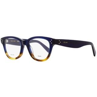 Celine CL41409 QLT Unisex Blue/Havana 49 mm Eyeglasses