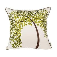 "18"" X 18"" Embroidered Cotton Decorative Throw Pillow Cover"