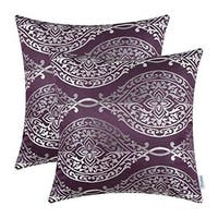 Pillow Covers Cases for Couch Sofa Home Décor 18 X 18 Inches, Eggplant - N/A