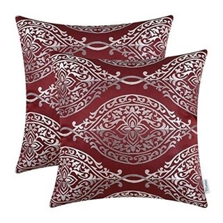 Pillow Covers Cases for Couch Sofa Home Décor 18 X 18 Inches, Burgundy