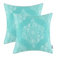 Cozy Pillow Cases Covers for Couch Bed Sofa, 18 X 18 Inches, Turquoise