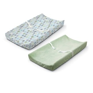 Summer Infant Ultra Plush Changing Pad Cover, Set of 2, Blue Swirl/Sage - Green