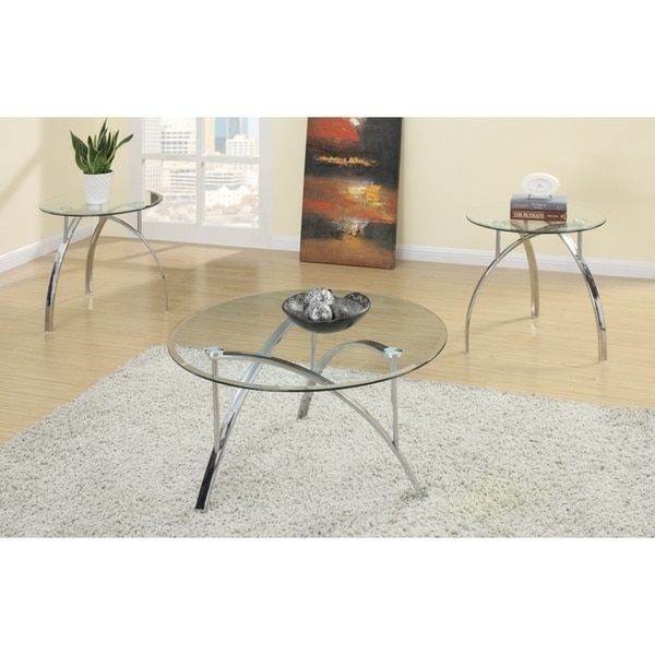Shop Complex Metal Frame 3 Pieces Coffee End Table Set