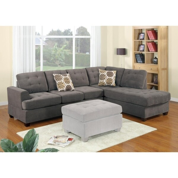 Shop Luxurious And Plush 2 Piece Corduroy Sectional Sofa