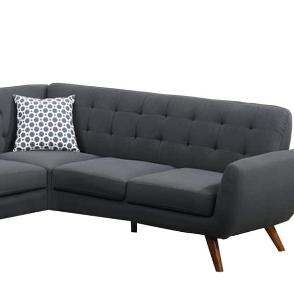 Magnificent Shop Polyfiber 2 Pieces Sectional With Tufted Back And Ibusinesslaw Wood Chair Design Ideas Ibusinesslaworg