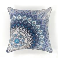 "Blue Starburst 18"" x 18"" Pillow"