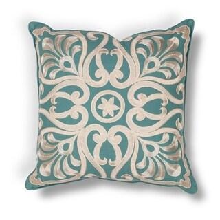 """Teal Damask 18"""" x 18"""" Pillow"""