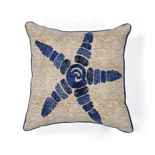 "Starfish Elegance 18"" x 18"" Pillow"
