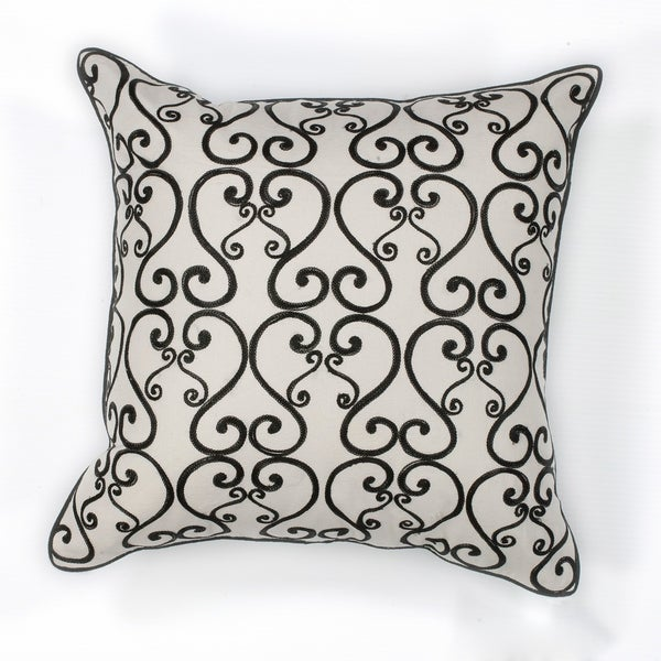 "White/Black Luminous 18"" x 18"" Pillow"