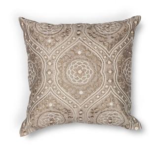 """Silver Damask 18"""" x 18"""" Pillow"""