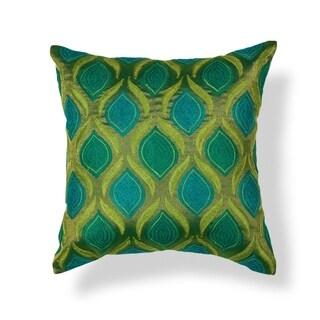 """Teal/Green Tribeca 18"""" x 18"""" Pillow"""