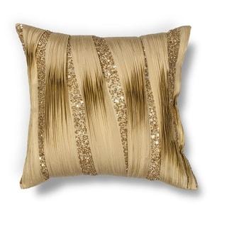 """Gold Ruffles 18"""" x 18"""" Pillow"""