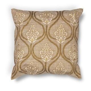 "Gold Damask 18"" x 18"" Pillow"