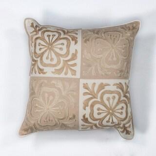 """Beige Damask 18"""" x 18"""" Pillow"""