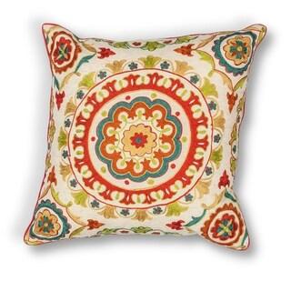 "Red Suzani 18"" x 18"" Pillow"