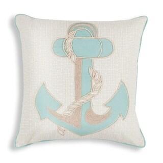 """Aqua Anchor 18"""" x 18"""" Pillow"""