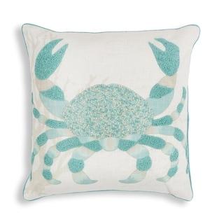 """KAS Aqua Crab 18"""" x 18"""" Pillow"""