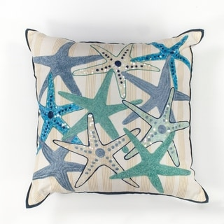 "Starfish Gala 18"" x 18"" Pillow"