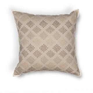 """Taupe Diamonds 18"""" x 18"""" Pillow"""