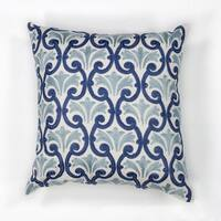 "Ivory/Blue Chateaux 18"" x 18"" Pillow"