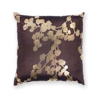 """Chocolate Flora 18"""" x 18"""" Pillow"""