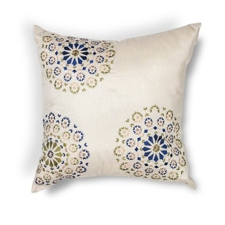 "Ivory/Blue Suzani 18"" x 18"" or 20"" x 20"" Pillow"