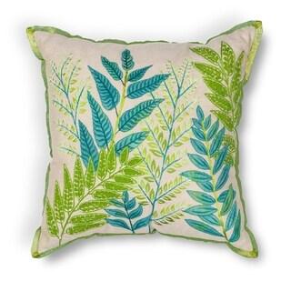"""Blue-Green Garden 18"""" x 18"""" Pillow"""