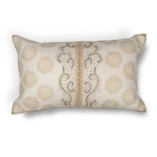 """Ivory Damask 12"""" x 20"""" Pillow"""