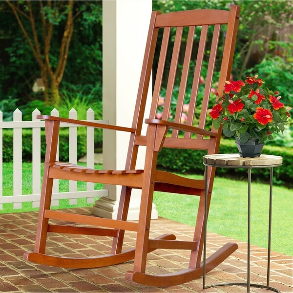 Cambridge Casual Alston Porch Rocking Chair   Natural Brown