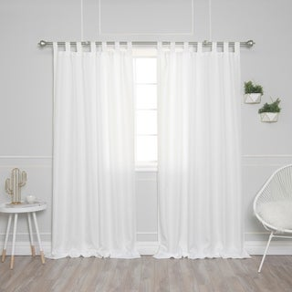 Aurora Home Tab Top Oxford Curtains, Set Of 2 Panels