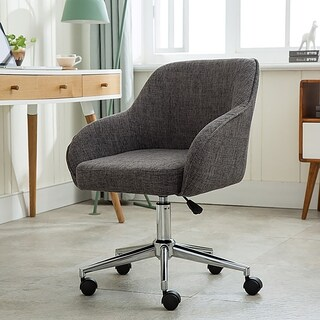 Porthos Home Upholstered Office Chair With Switch Footers&Casters Both