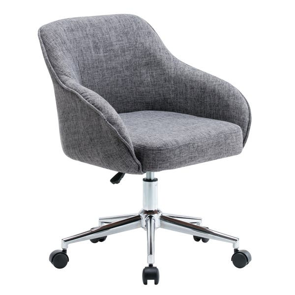 Shop Porthos Home Upholstered Office Chair With Switch Footers Casters Both On Sale Overstock 20629510