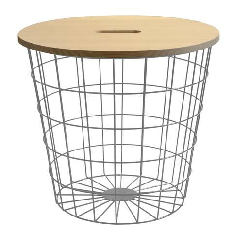 Wood Top Wire Storage