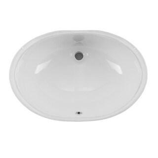 Undermount 19-1/4 in. Glazed Porcelain Oval Bathroom Sink in White