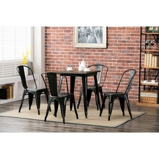 Porthos Home Metal Cafe Chair for Restaurant or Home, Set of 4