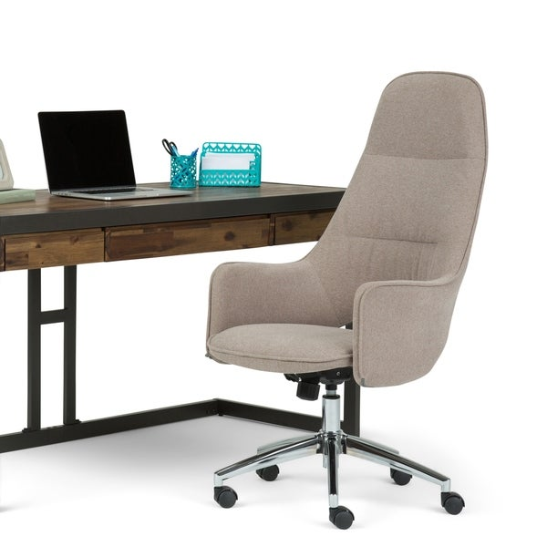 WYNDENHALL Specter Swivel Adjustable Executive Computer Large Office Chair in Taupe