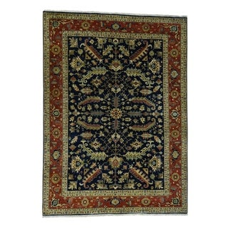 "Shahbanu Rugs Hand-Knotted New Zealand Wool Heriz Design Oriental Rug (10'0"" x 13'8"") - 10'0"" x 13'8"""