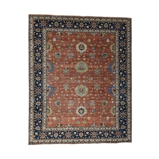 """Shahbanu Rugs Hand-Knotted Antiqued Heriz Oversize All Over Design Rug - 12'0"""" x 14'9"""""""