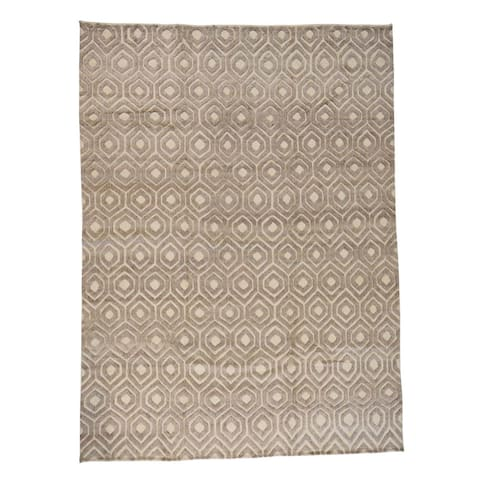 """Shahbanu Rugs Hand-Knotted Moroccan High and Low Pile Oriental Rug - 8'8"""" x 11'10"""""""