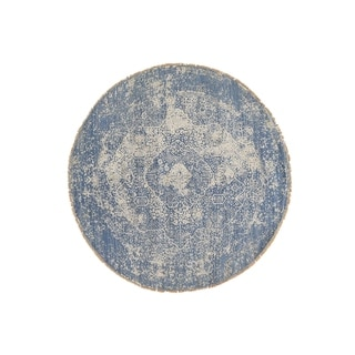 """Shahbanu Rugs Wool and Pure Silk Round Broken Persian Design Hand Knotted Rug - 8'0"""" x 8'0"""""""